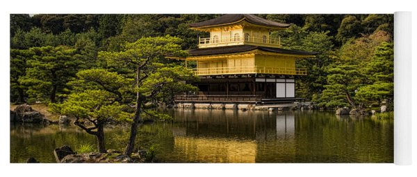 The Golden Pagoda In Kyoto Japan Yoga Mat