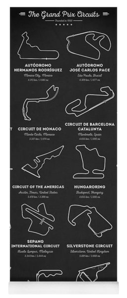 The Grand Prix Circuits Yoga Mat