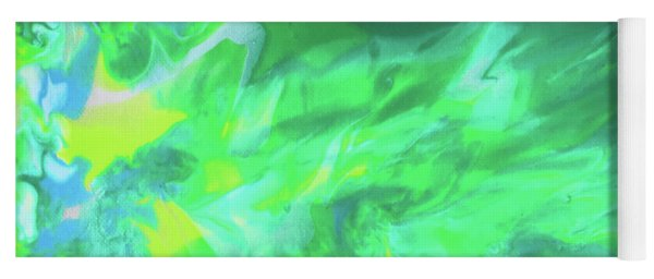 Yoga Mat featuring the painting Northern Lights by Deborah Boyd