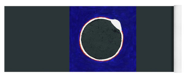 Yoga Mat featuring the painting The Great American Solar Eclipse Diamond Edition by Deborah Boyd