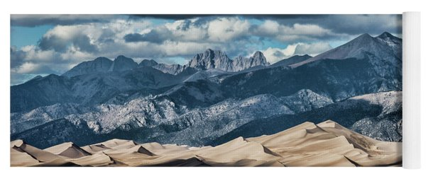 The Great Sand Dunes Panorama Yoga Mat