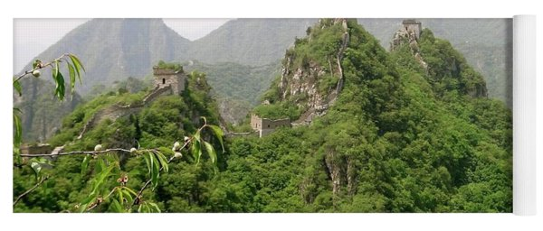 The Great Wall Of China Winding Over Mountains Yoga Mat