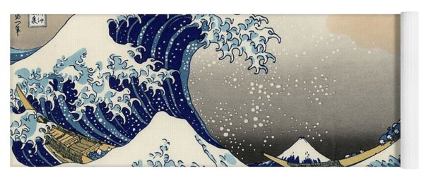 The Great Wave Off Kanagawa Yoga Mat