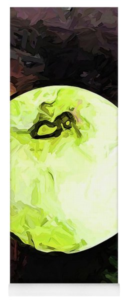 The Green Apple In The Bright Light Yoga Mat