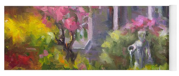 The Guardian - Plein Air Lilac Garden Yoga Mat