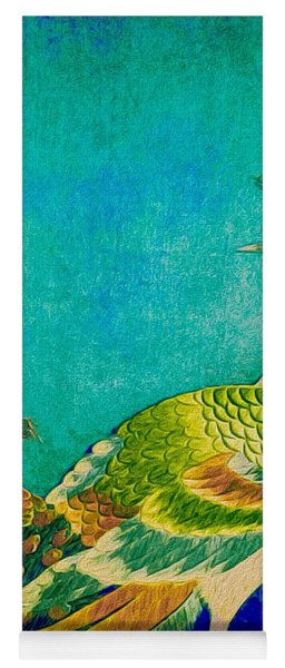 The Handsome Peacock - Kimono Series Yoga Mat