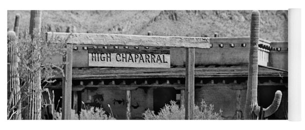 The High Chaparral Set With Sign Old Tucson Arizona 1969-2016 Yoga Mat