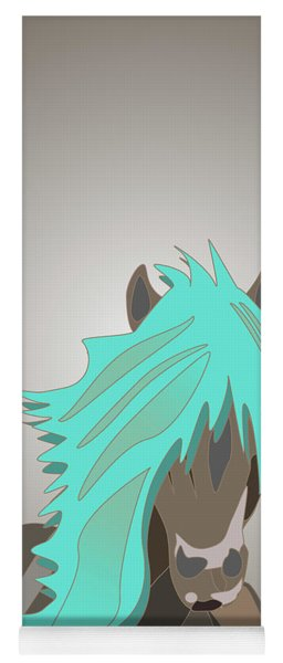 The Horse With The Turquoise Mane Yoga Mat