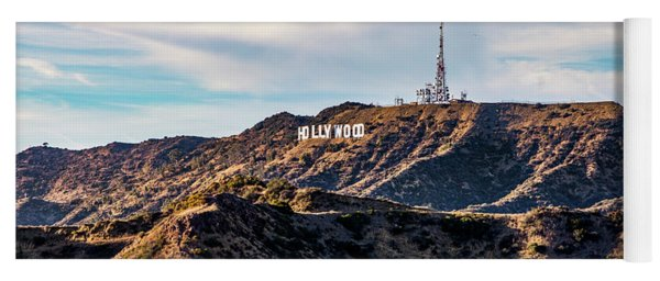 The Iconic Hollywood Sign Yoga Mat