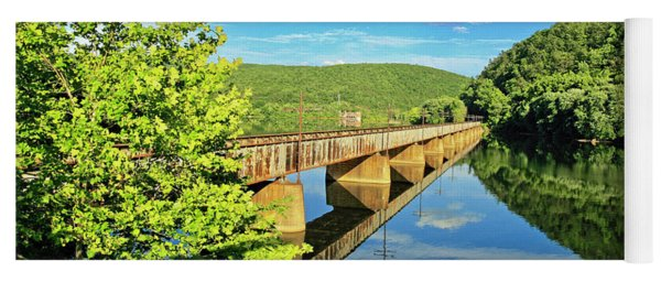 The James River Trestle Bridge, Va Yoga Mat
