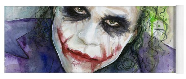 The Joker Watercolor Yoga Mat