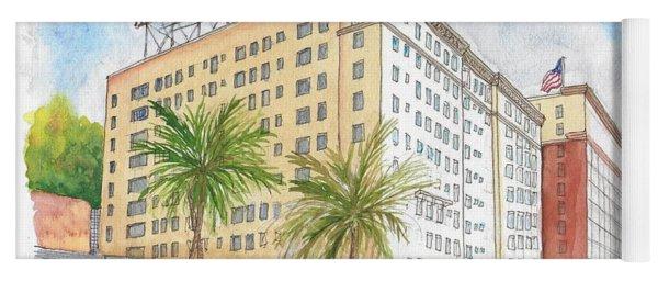 The Knickerbocker Hotel In Hollywood, California Yoga Mat