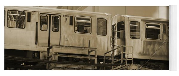 The L Downtown Chicago In Sepia Yoga Mat