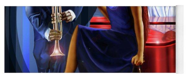 The Lady Jazz Singer Yoga Mat