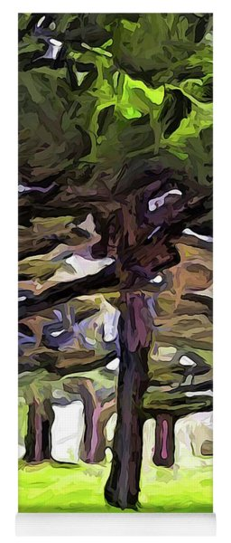 The Landscape With The Leaning Trees Yoga Mat