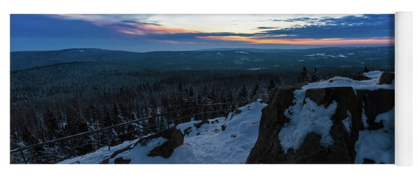 the last light of the day in the Harz mountains Yoga Mat