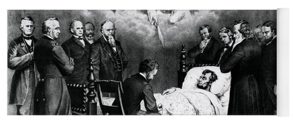 The Last Moments Of President Lincoln Yoga Mat