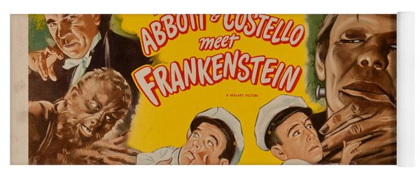 The Laughs Are Monsterous Abott An Costello Meet Frankenstein Classic Movie Poster Yoga Mat