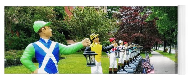 The Lawn Jockeys Of Saratoga Springs Yoga Mat