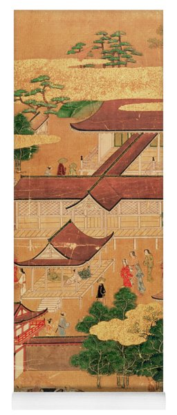 The Life And Pastimes Of The Japanese Court - Tosa School - Edo Period Yoga Mat