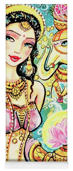 Yoga Mat featuring the painting The Light Of Lakshmi by Eva Campbell