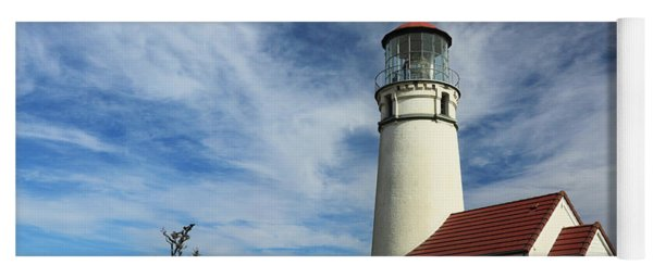 The Lighthouse At Cape Blanco Yoga Mat
