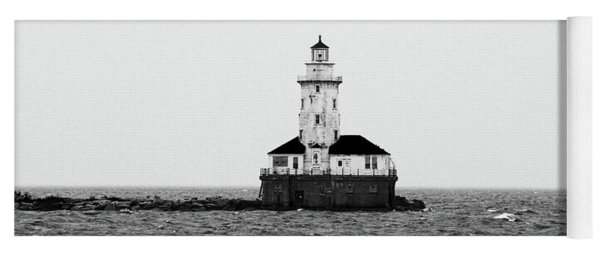 The Lighthouse Black And White Yoga Mat