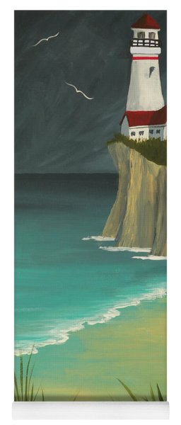 The Lighthouse On The Cliff Yoga Mat