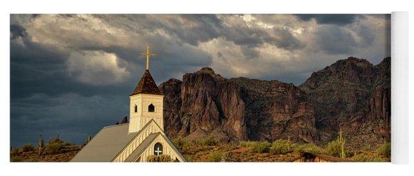 The Little Chapel In The Superstitions  Yoga Mat