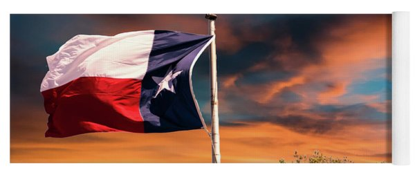 The Lone Star Flag Yoga Mat