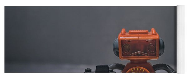 The Lonely Robot Photographer Yoga Mat