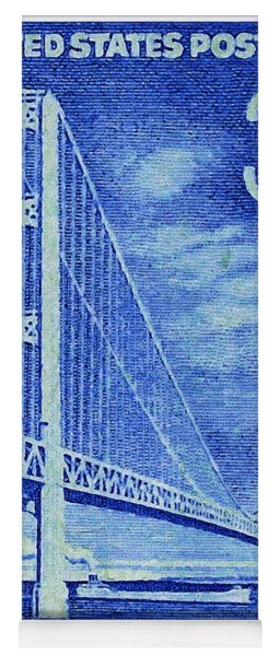 The Mackinac Bridge Stamp Yoga Mat