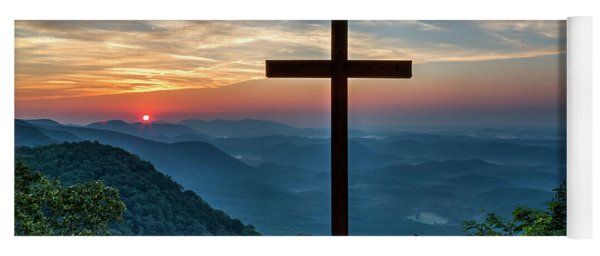 The Magnificent Cross Pretty Place Chapel Greenville Sc Great Smoky Mountains Art Yoga Mat