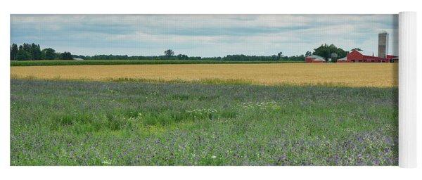 Farming Landscape Yoga Mat