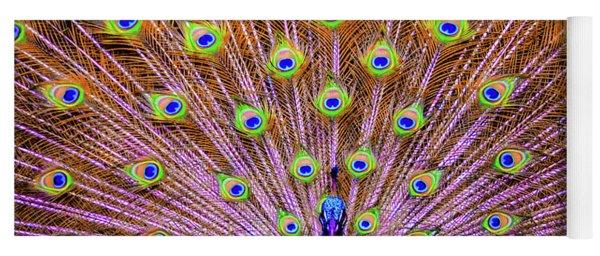 The Majestic Peacock Yoga Mat