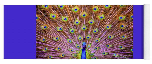 The Majestic Peacock Yoga Mat