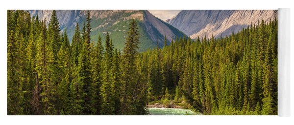 Yoga Mat featuring the photograph The Maligne River by Mark Mille