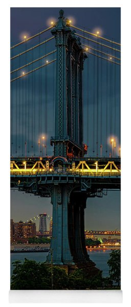 The Manhattan Bridge During Blue Hour Yoga Mat