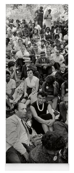 The March On Washington   A Crowd Of Seated Marchers Yoga Mat
