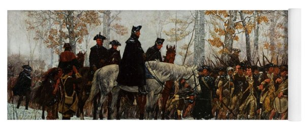 The March To Valley Forge, Dec 19, 1777 Yoga Mat