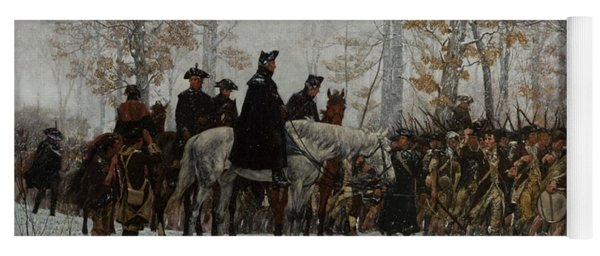 The March To Valley Forge, December 19, 1777 Yoga Mat