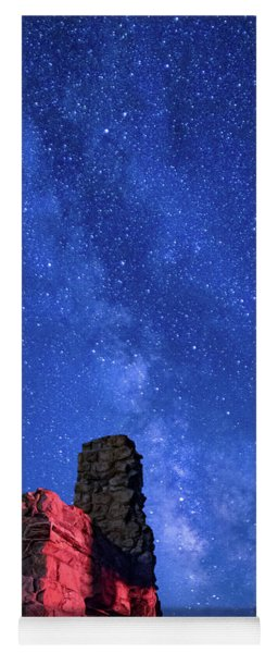 The Milky Way Over The Crest House Yoga Mat