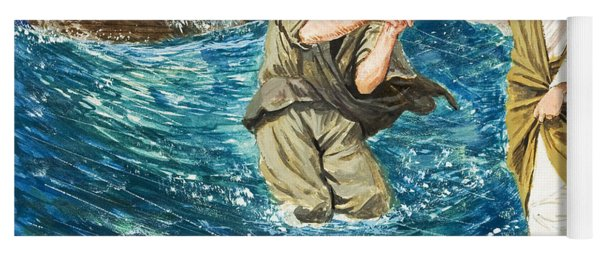 The Miracles Of Jesus Walking On Water  Yoga Mat