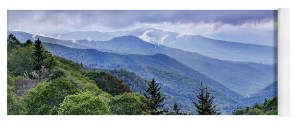 The Mountains Of Great Smoky Mountains National Park Yoga Mat