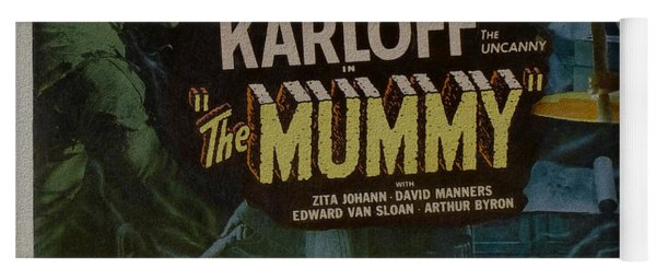The Mummy 1929 Poster Boris Karloff Yoga Mat