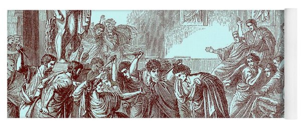 The Murder Of Julius Caesar Yoga Mat