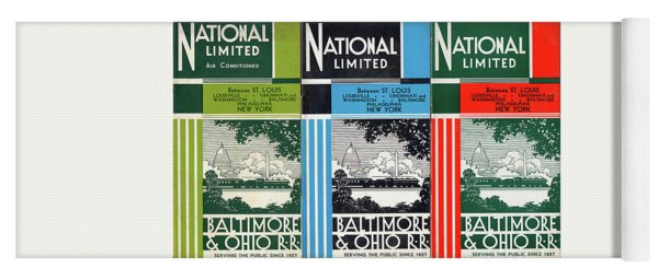 The National Limited Collage Yoga Mat