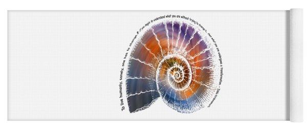 The Nautilus Shell Transparent -  Quote Yoga Mat