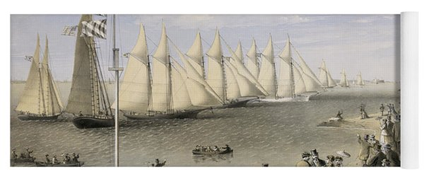 The New York Yacht Club Regatta, 1869 Yoga Mat