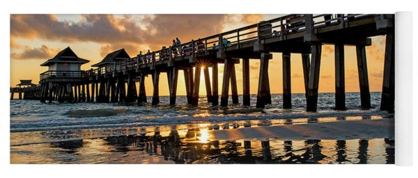 Naples Pier At Sunset Naples Florida Ripples Yoga Mat
